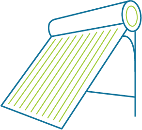 solar water heater icon