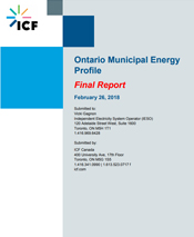 Link to Ontario Municipal Energy Profile
