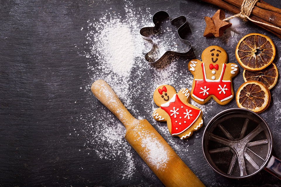 gingerbread holiday cookie baking