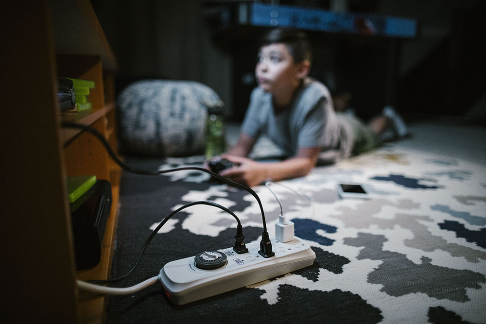 A child playing a video game